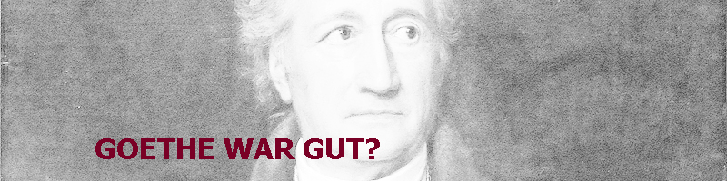 Goethe war gut?